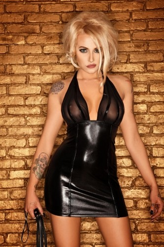 Noir Handmade - Wetlook Kleid bis Gr. 60