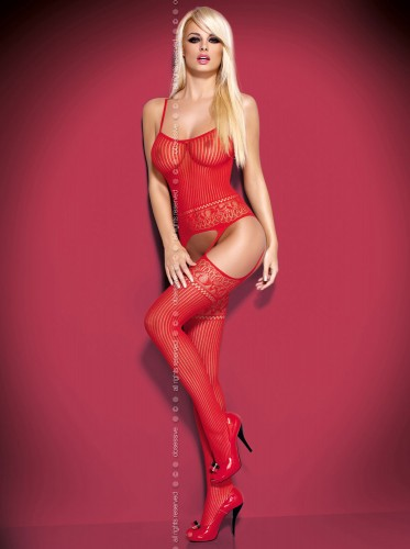 Bodystocking in rot von Obsessive