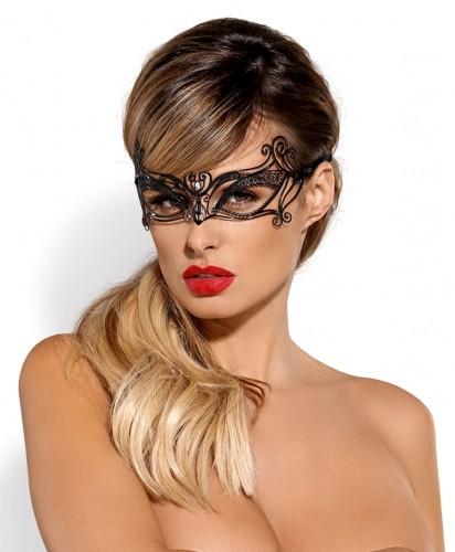Augenmaske aus fein profiliertem Metall mit Zirkondetail