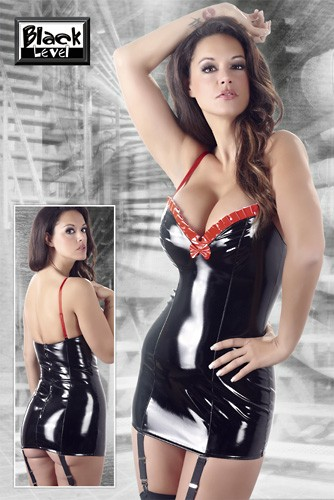 Lack Straps-Minikleid von Black Level