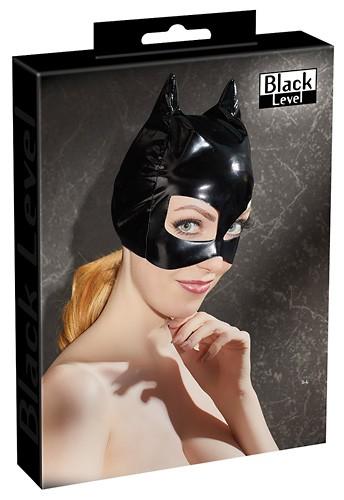 Schwarze Lack-Maske mit kleinen Ohren