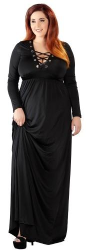Langes Kleid mit Schnürung bis Größe 62