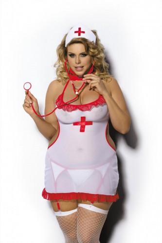 3-teiliges Krankenschwester Outfit