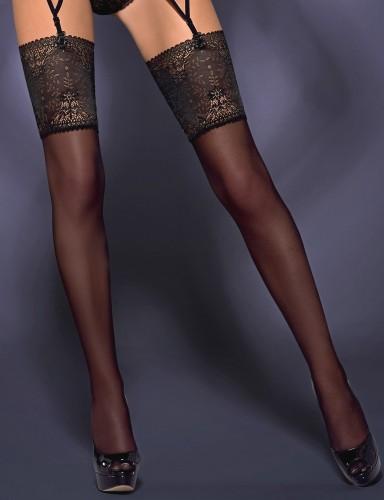 Stockings mit Blütenspitze