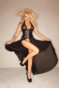 Langes Erotik-Kleid in Übergröße bis 60