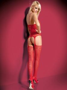 Bodystocking in rot von Obsessive