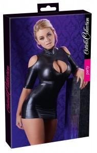 Minikleid mit Stehkragen und freien Schultern