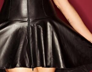 Kleid mit durchgehendem Zwei-Wege Zipper bis 10XL