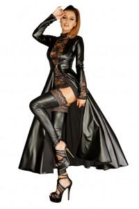 schwarzer langer Mantel bis 6 XL von NOIR