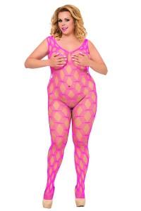 Pinkes Netz-Catsuit von Softline