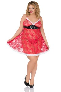 Rotes Weihnachts-Chemise