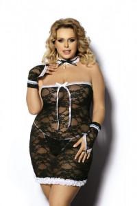 4-teiliges Dienstmädchen Outfit