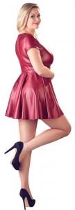 Rotes Minikleid aus mattem Stoff