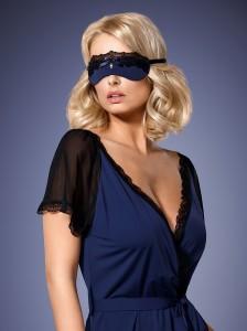 Maske in dunkelblau